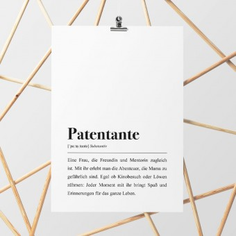 Patentante Definition - DIN A4 Poster - Pulse of Art