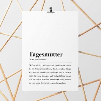 Tagesmutter Definition: DIN A4 Poster - Pulse of Art