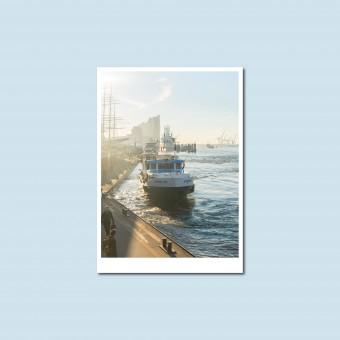 'Morgens am Hafen' Postkarte, DIN A6, klimaneutral gedruckt / Ankerwechsel Verlag