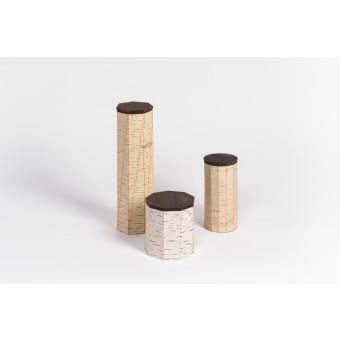 MOYA Nachhaltige Vorratsdosen aus Birkenrinde TUESA |3er Set | original edition