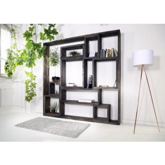 FraaiBerlin – Regal im Landhaus-Stil Neiva Black Wash
