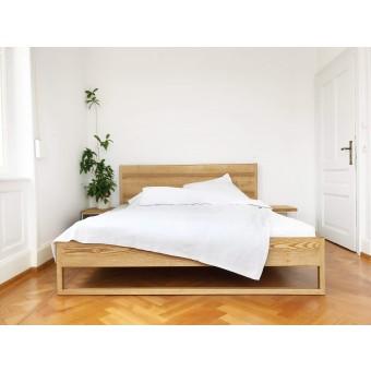 N51E12 - Pure Ash Bett aus Massivholz Esche