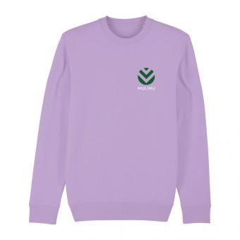 MULINU | UNISEX RUNDHALS-SWEATSHIRT Bio Baumwolle Lavendel