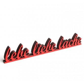 NOGALLERY Lebe Liebe Lache - Deko Schriftzug Holz