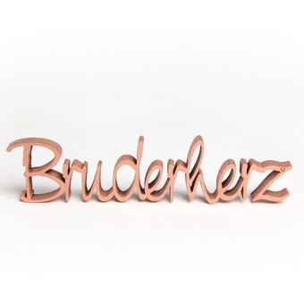NOGALLERY Bruderherz - Deko Schriftzug Holz