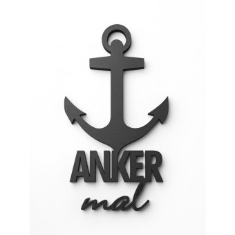 NOGALLERY Anker mal - Deko Schriftzug Holz