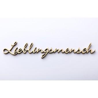NOGALLERY Lieblingsmensch - Deko Schriftzug Holz