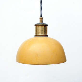 Terrazzo Hängelampe / Leuchte ocker  / objet vague