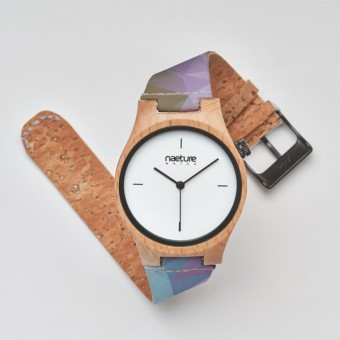 "Naeture Watch ""Stella"" - Holzuhr mit veganem Armband"