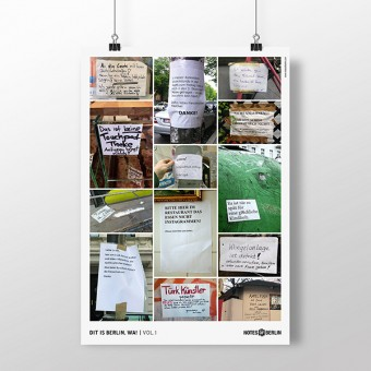 DIT IS BERLIN, WA! Vol.1 Notes of Berlin Themenplakat
