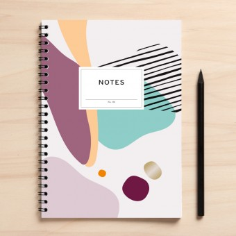 """Amy & Kurt Berlin A5 Notizbuch """"Notes06 Abstrakt"""""""