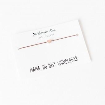 "Oh Bracelet Berlin – Nylonarmband ""Mama du bist wunderbar"""