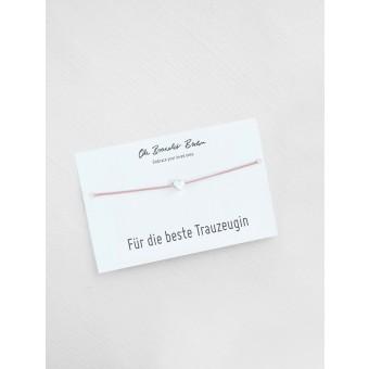 Oh Bracelet Berlin - Nylonarmband »Trauzeugin I Farbe Silber