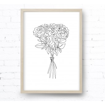 Kruth Design POSTER / ONE LINE BOUQUET