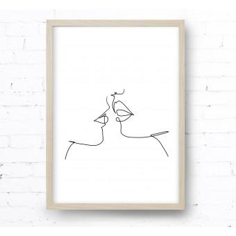 Kruth Design POSTER / ONE LINE KISS