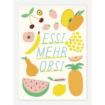 ByeByeSea Siebdruck »Esst mehr Obst«