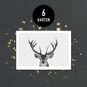 typealive / Weihnachtskarten-Set / Deer No. 2