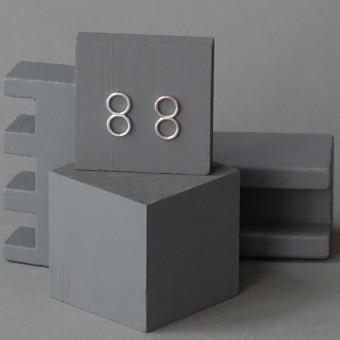 Ohrkreise Nr. 14 - margaritifera - Ohrstecker - Silber 925