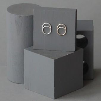 Ohrkreise Nr. 5 - margaritifera - Ohrstecker - Silber 925