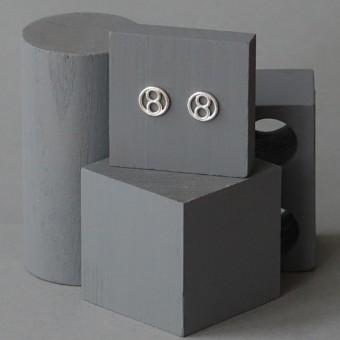 Ohrkreise Nr. 6 - margaritifera - Ohrstecker - Silber 925