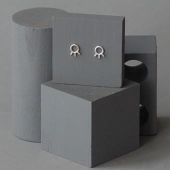 Ohrkreise Nr. 8 - margaritifera - Ohrstecker - Silber 925
