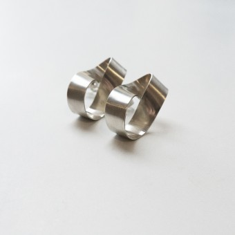 Puur Jewellery - Silber Ohrring No.1 - Folded Collection