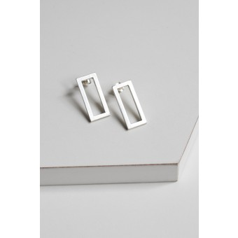 "puur.jewellery Ohrring ""rectangle"""