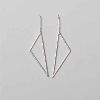 """Teresa Gruber Ohrringe """"Triangle"""", 925 Silber"""