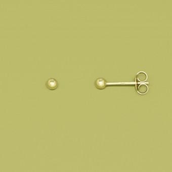 fejn jewelry - Ohrstecker 'ball shiny'