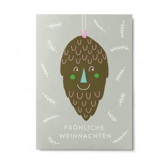 UNTER PINIEN – Lustiger Zapfen – Postkarte