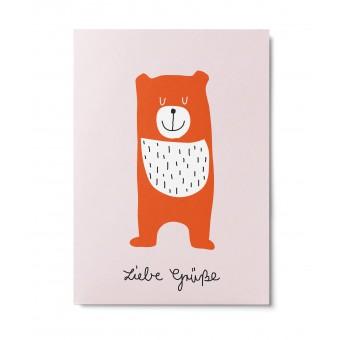 UNTER PINIEN – Liebe Grüße – Postkarte