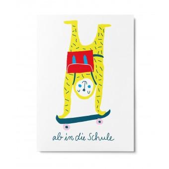 UNTER PINIEN – ab in die Schule – Postkarte