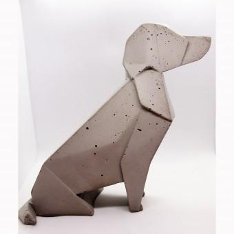 moij design Origami Hund aus Beton
