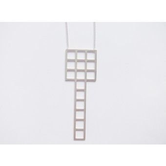 Theobalt.design Tetris Kette silber (lang)