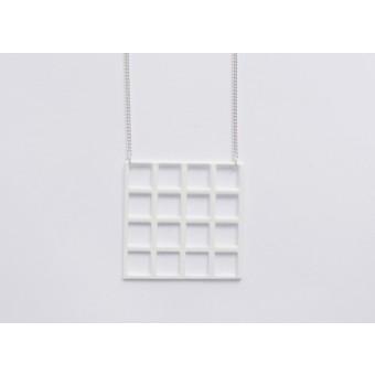 Theobalt.design Tetris Kette weiß (Quadrat)