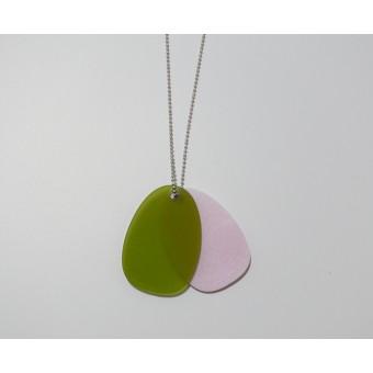 theobalt.design TAG Halskette grün/rosa