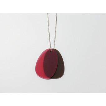 theobalt.design TAG Halskette braun/rot