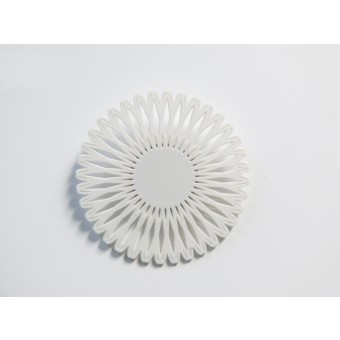 Theobalt.design Hypotrochoid Brosche weiß