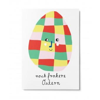UNTER PINIEN – noch frohere Ostern – Postkarte
