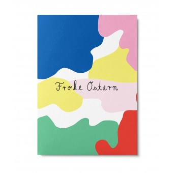 UNTER PINIEN – bunte Ostern – Postkarte