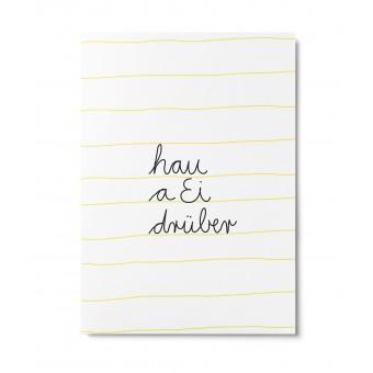 UNTER PINIEN – hau a Ei drüber – Postkarte