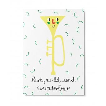 UNTER PINIEN – laut – Postkarte