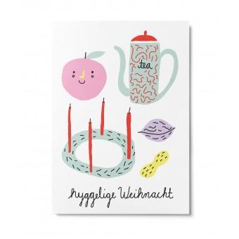 UNTER PINIEN – hyggelig – Postkarte