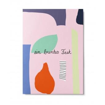 UNTER PINIEN – buntes Fest – Postkarte