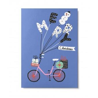 UNTER PINIEN – Christmas bike – Postkarte