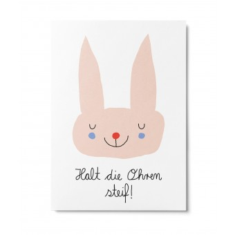 UNTER PINIEN – halt die Ohren steif – Postkarte