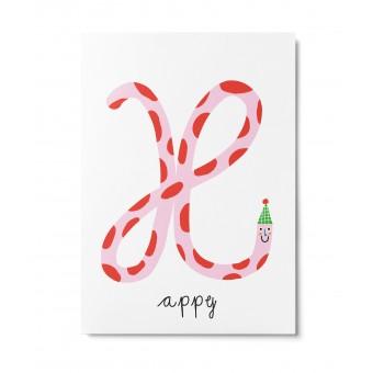 UNTER PINIEN – happy – Postkarte