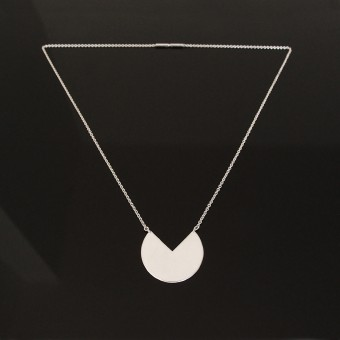 B KREB jewelry - 3 Q necklace - silber