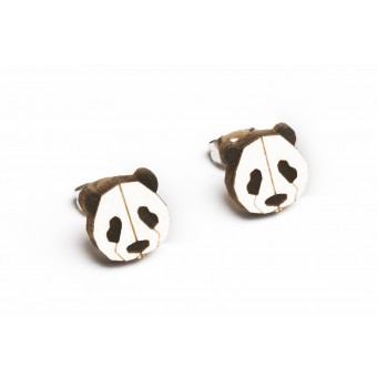 BeWooden Ohrringe - Ohrstecker aus Holz - Panda Earrings
