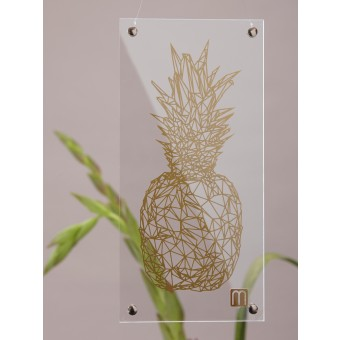 "MONASTINE Plexiglasbild ""Ananas №1 lille"" - die ""Goldene Ananas"""